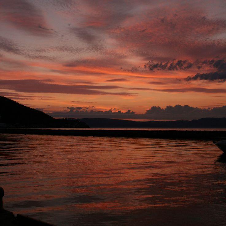 ✲ solnedgang på Skansen / Trondheim