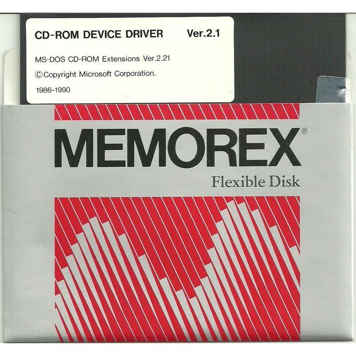 MS-DOS CD-ROM Device Driver Ver. 2.1 PC Software DOS 5-1/4 inch floppy disc 1990 Listing in the Utilities,Software,Computing Category on eBid Canada | 155189507 CAN$ 7.00 + shipping