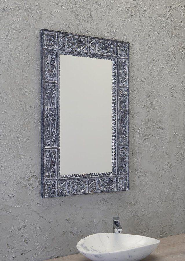 UBUD zrcadlo v rámu, 70x100cm, šedá, SAPHO E-shop