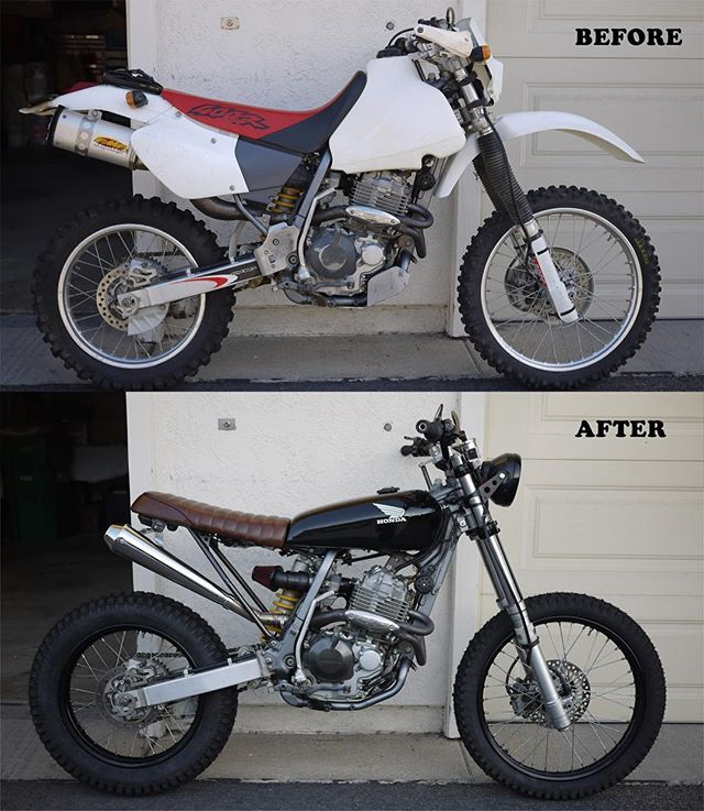 She's finally finished and running like a dream. Big thanks to @ironcobrasfabrication for the custom work, couldn't have done it without you! I'm beyond satisfied with the result.  #honda #xr400 #scrambler #motocross #supercross #dualsport #enduro