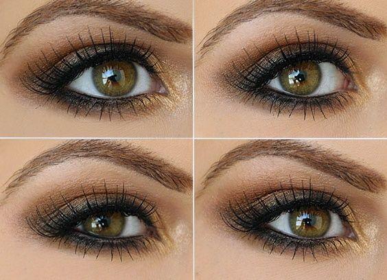 Step by Step Smokey Brown Eyeshadow Tutorial.