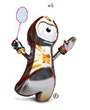 2012 Olympic Games - badminton mascot ... following badminton live on badmintonworld.tv