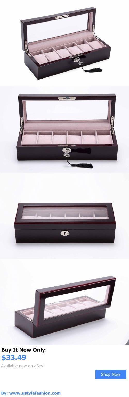 Clothing And Fashion: Tcbunny Ebony Wood Watch Storage Box Display Case Organizer With L..., Fast Free BUY IT NOW ONLY: $33.49 #ustylefashionClothingAndFashion OR #ustylefashion