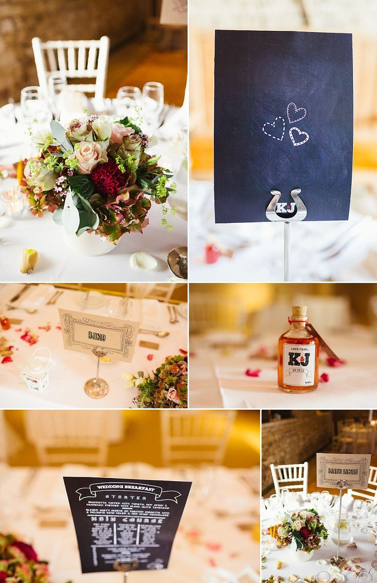 A rustic wedding table at Great Tythe Barn | Lisa Dawn Photography