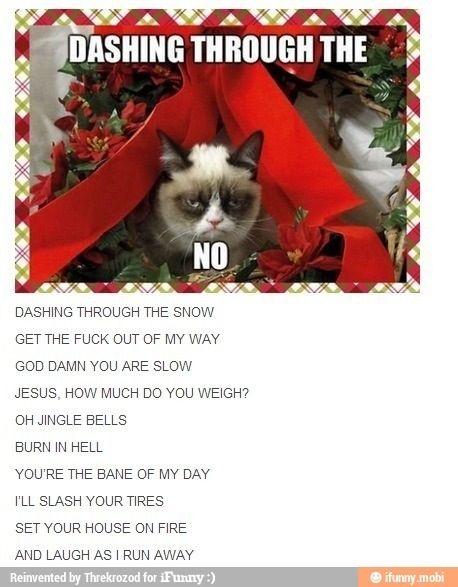 Grumpy cat- Christmas Carol   Funny christmas songs, Grumpy cat, Grumpy cat christmas
