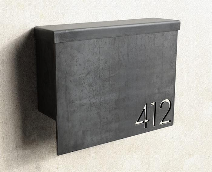 This is our take on the modern mail box – a sleek selection for your postal purposes. The MB1 Model is hand crafted from heavy gauge steel and designed to