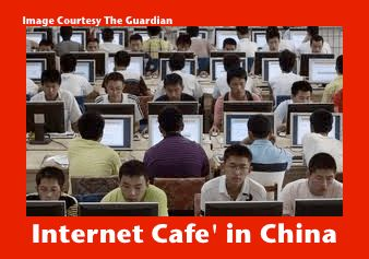 China Internet Cafe... Is this where China does all of it's online shopping?