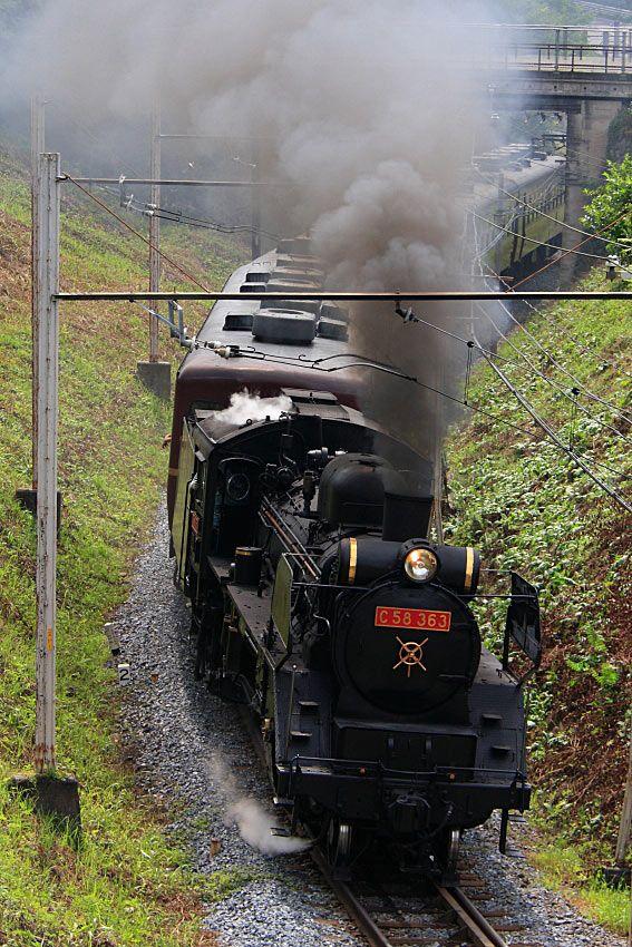 パレオエクスプレス 埼玉県に秩父鉄道があり熊谷-三峰口を蒸気機関車C58363が走っています。