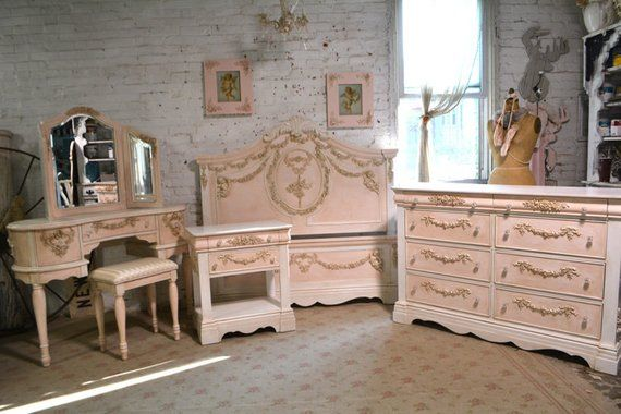 Painted Cottage Romantic French Six Piece Bedroom Collection Bedroom Collection Painted Cottage French Country Bedrooms