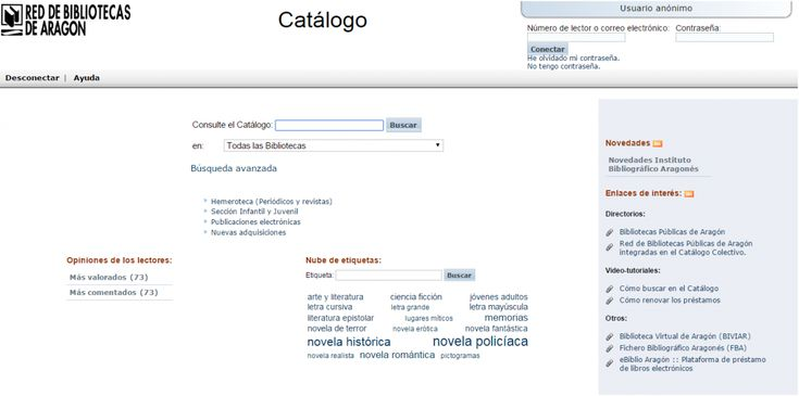 Las bibliotecas de Ballobar y Torrente de Cinca se integran en la Red de Bibliotecas de Aragón. Las bibliotecas de Ballobar y Torrente de Cinca se suman con esta integración al centenar de bibliotecas pertenecientes a la Red de Bibliotecas de Aragón. Dicha incorporación al catálogo colectivo (absysNet 2.0) proporciona a los usuarios de las bibliotecas acceso a más de un millón de referencias bibliográficas, además de contar con el carné único...