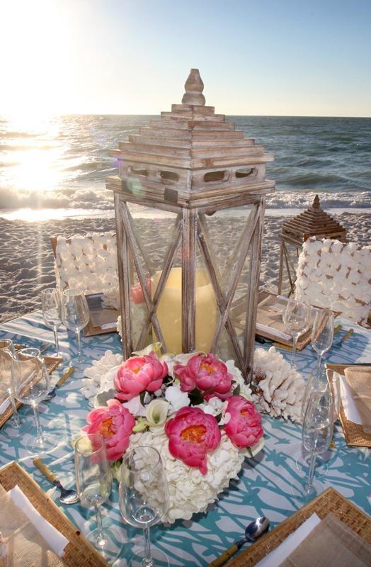 136 best beach wedding inspiration images on pinterest shells top florida wedding venues beach wedding centerpieceslantern junglespirit Images