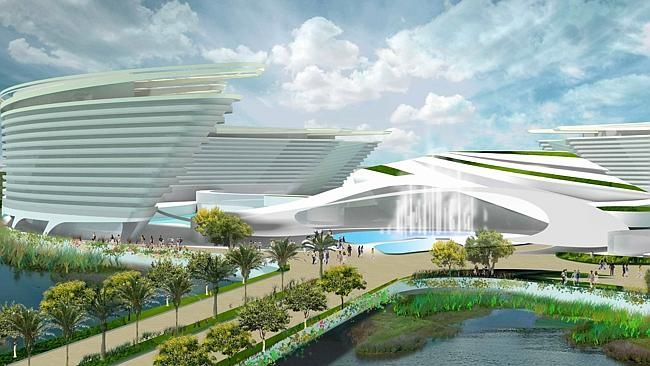 VISION: An artist's impression of the $4.2 billion Aquis Great Barrier Reef Resort at Yor