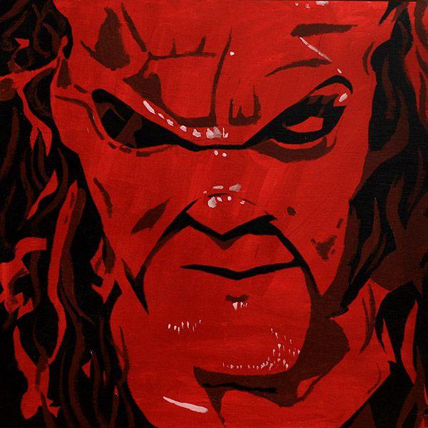 "Kane l Acrylic on 24"" x 24"" wood"