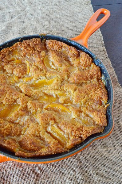 Skillet Peach Cobbler: One Easy, Awesome Dessert