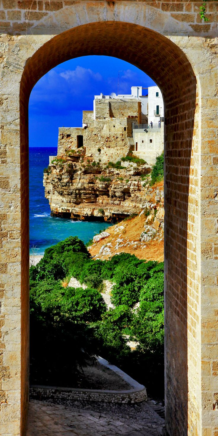 Cinematic View of Italian Coast - Polignano al mare, Puglia