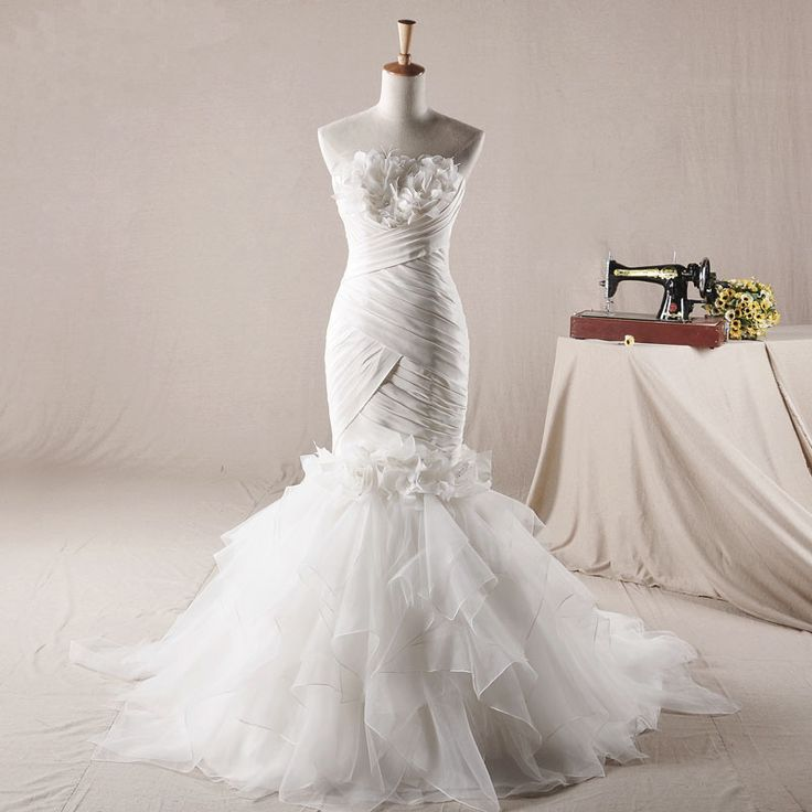 hot sell Sleeveless with Natural waist wedding dress