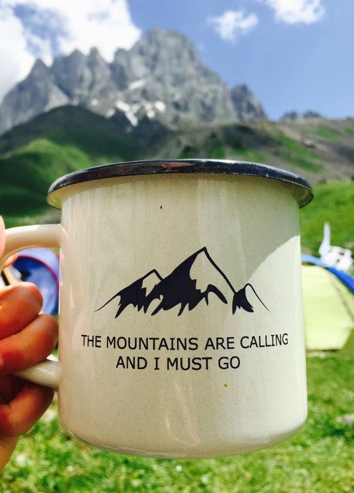 Mountains are calling and I must go Enamel Mug Camping Mug Personalized Mug Enameled Mug www.etsy.com/shop/MugYourself