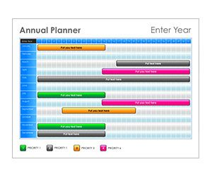 Jewel Tone Annual Planner: Get this free, printable, customizable template from YourTemplateFinder.com