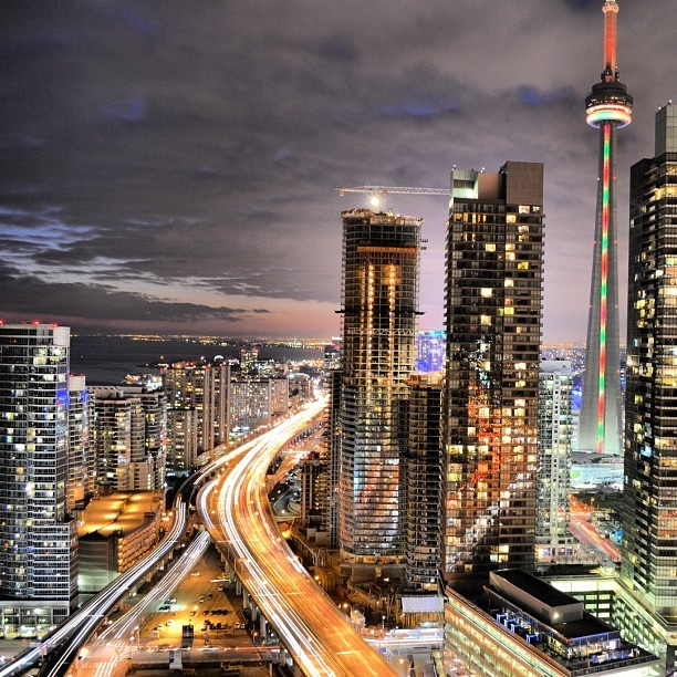 Toronto. Beautiful city.  Need to go back to get up in the CN tower.