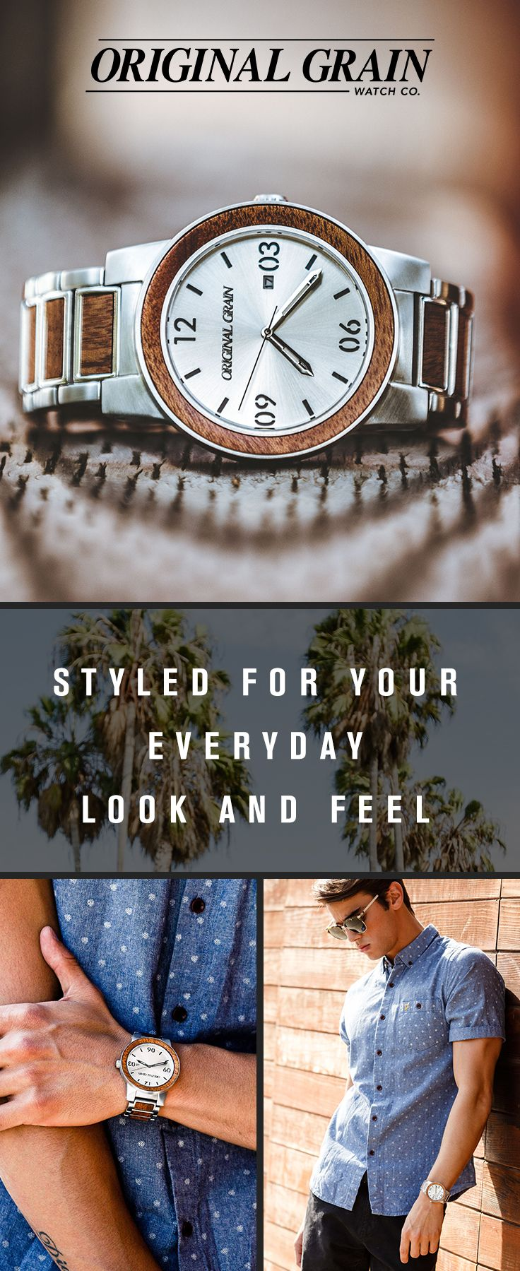 Looking for the perfect gift? Our wood & steel watches are one of a kind and made with some of the world's finest exotic hardwood. Dress it up or dress it down, these are the season's most wearable trend! Starting at $150 with free shipping worldwide!
