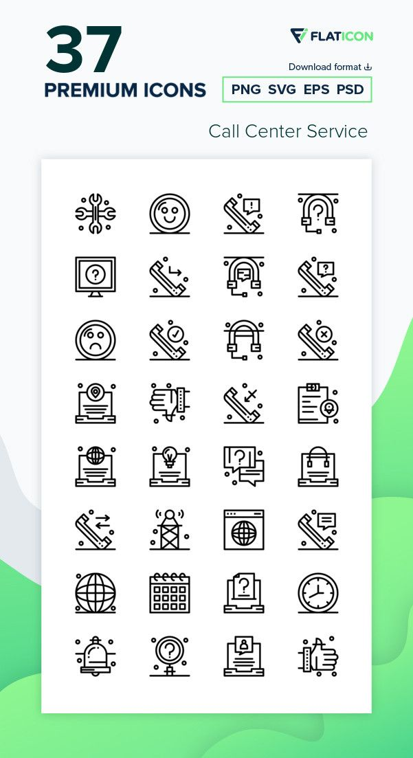 37 Premium Vector Icons Of Call Center Service Designed By Ibrandify Icon Call Center Vector Icons