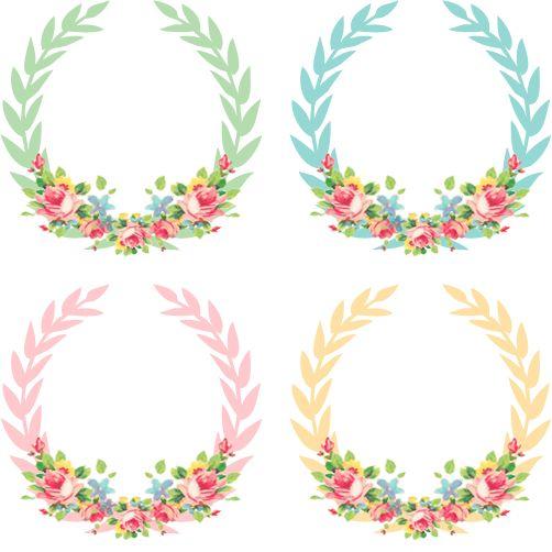 Vintage Freebie: Pretty Shabby Wreaths