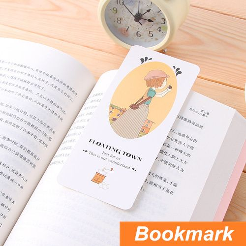 30 pcs/set Paper bookmarks Floating town Cartoon Bookmarks Page Holder cute stationary Greeting card office School supplies 6791