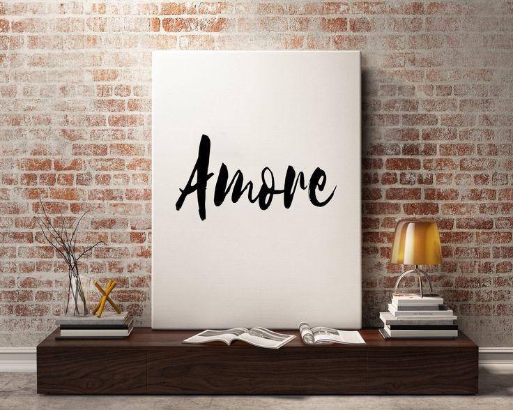 Impression italienne '' Amore'' imprimable italien par EVOLgallery