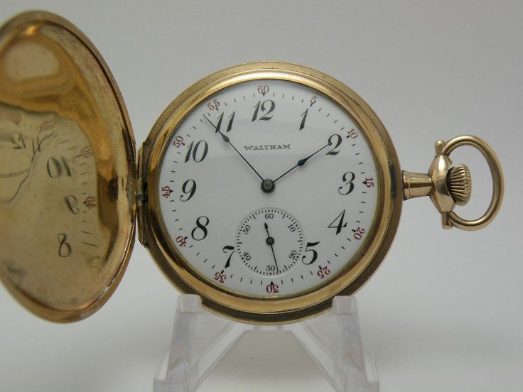 Antique american waltham pocket watch in classic hunter for American classic antiques