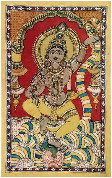 Indian Painting Styles...Kalamkari Paintings (Andhra Pradesh)-krishna1-7-.jpg
