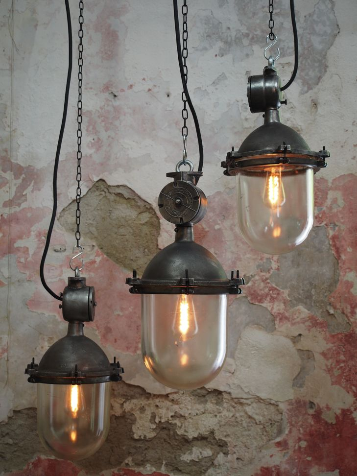 lampe a suspendre industrielle metal