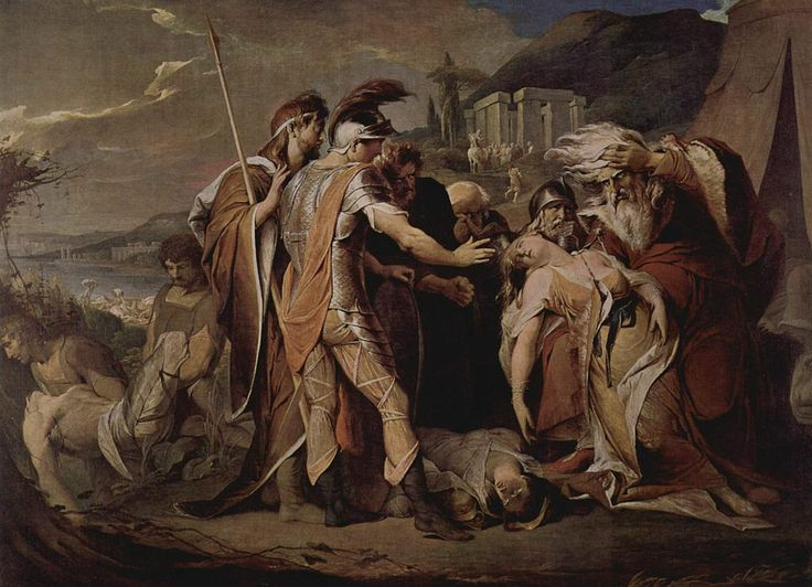 #gothic fantasy. James Barry, King Lear mourns Cordelia's death, 1786-1788.