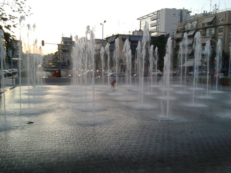 Fountains were made in 2015, together with the renovation of the Chrysostomos Smyrnis square, some metres away from the famous Central Square of Nea Smyrni. This is probably the most impressive entrance of the town.