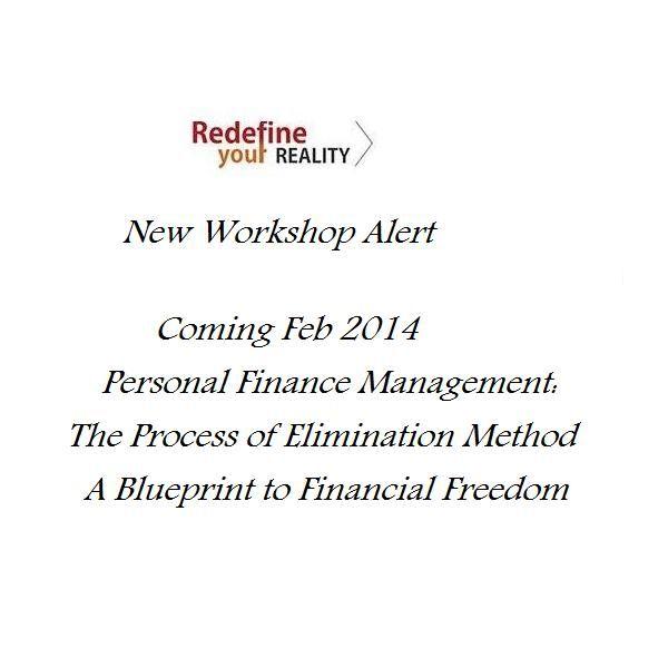 New Workshop Personal #Finance Management The Process of Elimination - copy business blueprint workshop