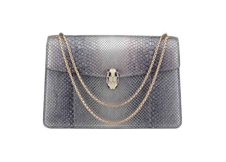 This gorgeous lilac Bulgari Serpenti Forever bag will never go out of style. avaialable exclusively at Harvey Nichols - Dubai.