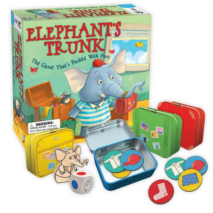 Emmet the elephant is late for a trip and needs your help packing! Take turns rolling the die and placing a piece of clothing into the matching colored trunk. But watch out for the sneaky mouse who will try to dump out everything you just packed! Be the first to pack up all of Emmet's clothes and he might just take you with him on vacation! $32.99 3 Years+