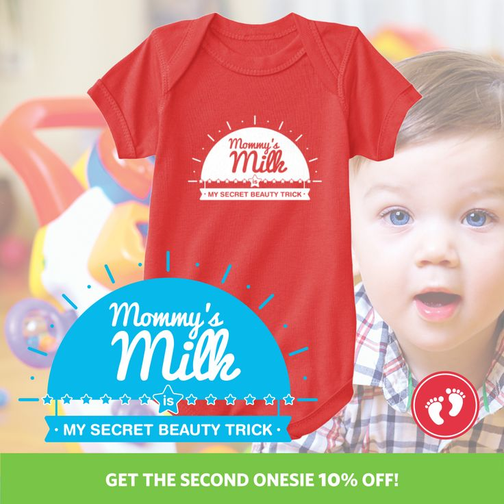Show the world the wonders breastfeeding can do to your baby!! Get this Limited Edition Onesie before time runs out.