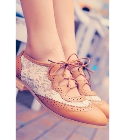 Creeper Flats&Oxfords Womens Shoes Platform Wedge Med Heels Lace Up US 5-US 8.5
