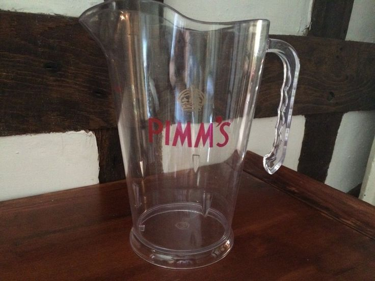 Pimm's Jug 52oz /1.5ltrs Plastic Pimms Jug Pimm's Original Cocktail Pitcher