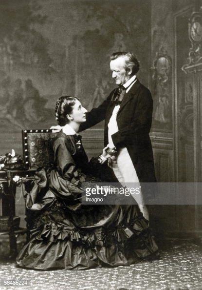 News Photo : Richard Wagner with his wife Cosima , circa 1875.