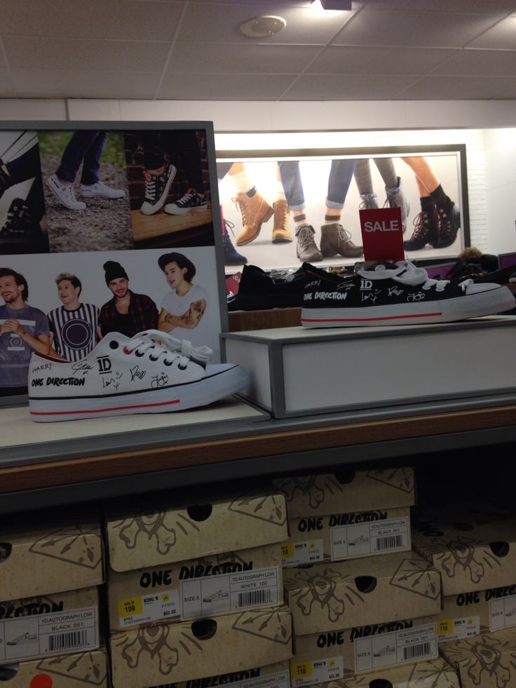THEY HAVE ONE DIRECTION SHOES AT KOHLS LOOK AT HOW COOL THEY ARE GET THEM AT YOUR LOCAL KOHLS NOW (photo credits: @heyitsjeanette5)