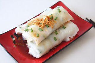 Homemade Steamed Rice Rolls ( Chee Cheong Fun )
