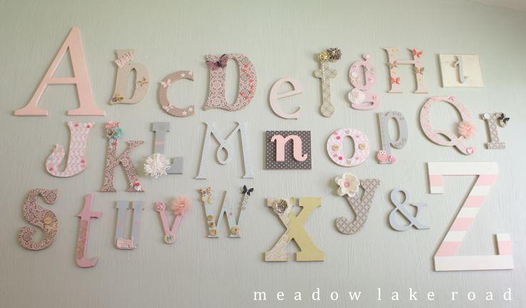 Nursery Alphabet Wall - Meadow Lake Road www.meadowlakeroad.com