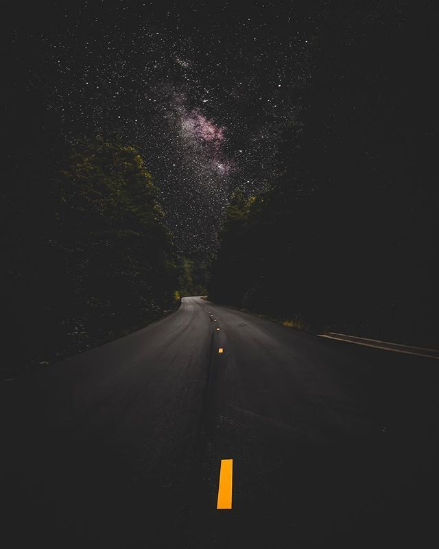 Intergalactic Highway This Is My Road Milkyway Road Highway Sky Night Sky Photography Sky Aesthetic Sky Photography