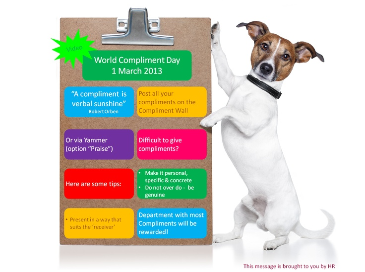 People will forget what you said, but they will never forget how you made them feel - today is World Compliment Day and we celebrate it at IDEXX
