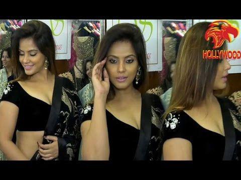 Neetu Chandra - Neetu Chandra Turns Up So Heat In Sexy Black Sari & Blouse