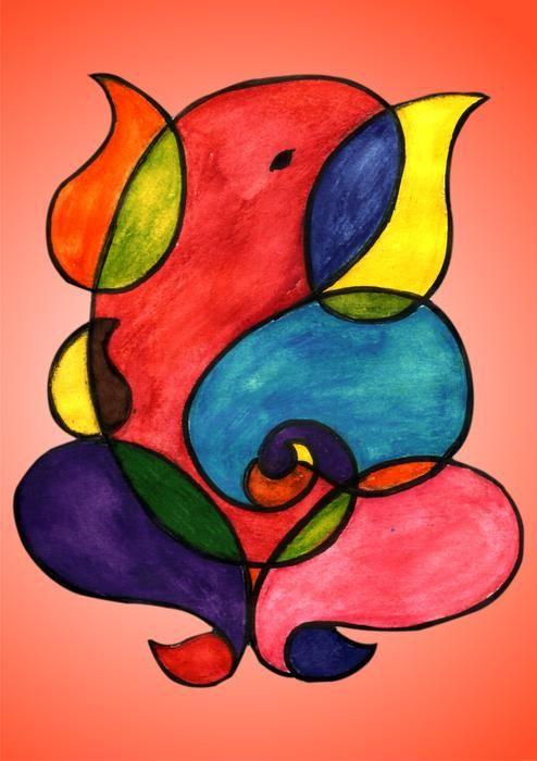 Multi Ganesha Painting  - Multi Ganesha Fine Art Print