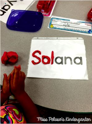 FREE playdough name mats! Great for strengthening fine motor skills and encouraging sensory play!