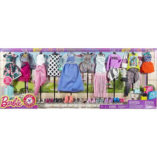 """Barbie Pink Passport Fashion Doll Outfits - 10 Pack - Mattel - Toys """"R"""" Us"""