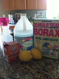 5 DIY Homemade Cleaners - Recipes, instructions etc- Floor cleaner, Furniture cleaner, Abrasive cleaner  more
